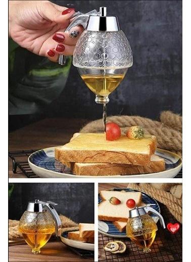 Kitchen Love Balmatik Dağıtıcı Akrilik Pompalı Musluklu Bal Kavanozu Renkli